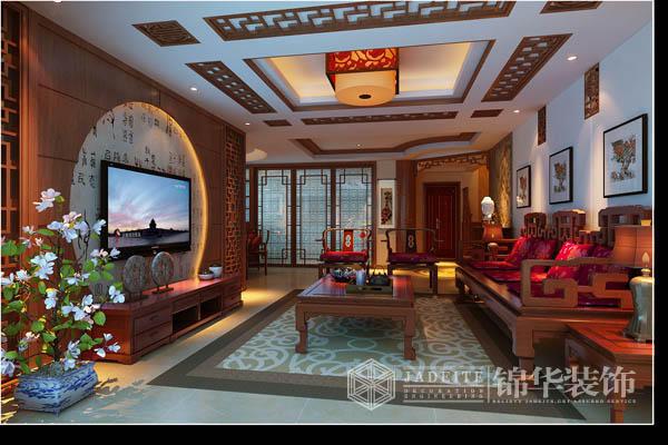 风格:新中式风格 户型:三室两厅装修效果图图片