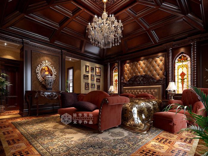 欧式别墅外观设计 欧美风情别墅客厅背景墙装修效果图