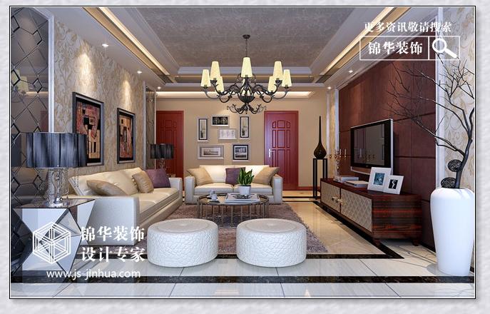 装修图片 三室两厅装修效果图 现代简约风格 徐州锦华装饰