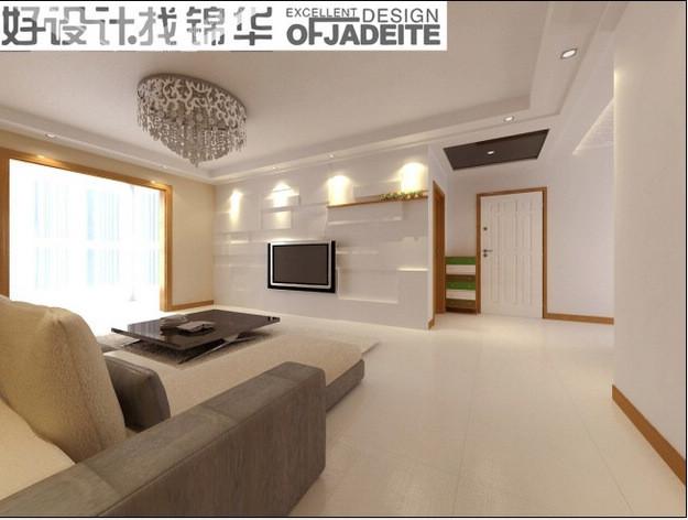 无装修图片-三室两厅装修效果图-现代简约风格-徐州
