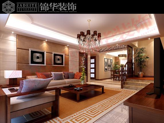 客厅效果图(角度1)-万宁华府C2 大户型 房型解析 装修设计方案 徐州