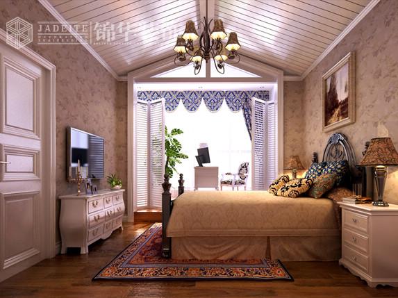 欧式斜顶卧室效果图